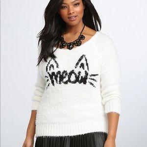Torrid Meow Eyelash Fuzzy Sweater